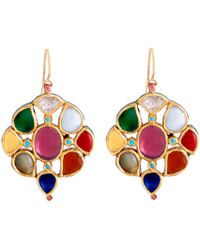 Sanjay Kasliwal | Navratna Round Earrings | Lyst