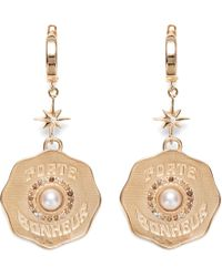 Marlo Laz - Porte Bonheur 14-karat Gold, Diamond And Pearl Earrings Gold One Size - Lyst