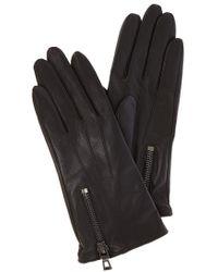 Karen Millen - Zip Glove - Black - Lyst