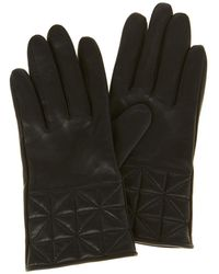 Karen Millen - Quilted Gloves - Black - Lyst