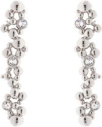 Karen Millen - Evolution Crystal Drop Earring - Lyst