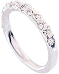 Karen Millen - Crystal Sprinkle Ring - Km - Lyst