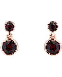 Karen Millen - Crystal Dot Drop Earrings - Lyst