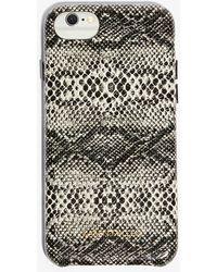 1d57c5315ea0 Karen Millen - Faux Python-skin Phone Case - Lyst