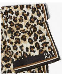 Karen Millen - Leopard Scarf - Lyst