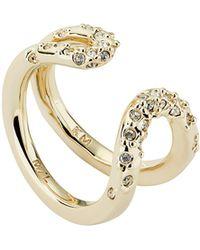 Karen Millen - Crystal Sprinkle Ring - Lyst