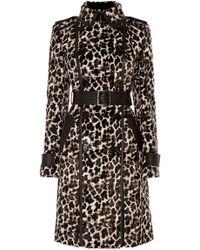 Karen Millen - Leopard Print Coat - Lyst