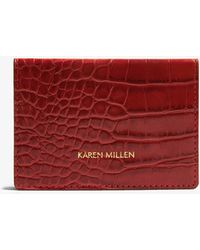 Karen Millen - Croc-effect Card Holder - Lyst