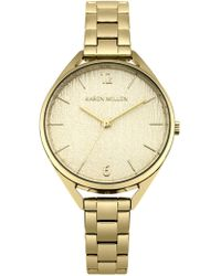 Karen Millen - Textured Dial Bracelet Watch - Gold Colour - Lyst
