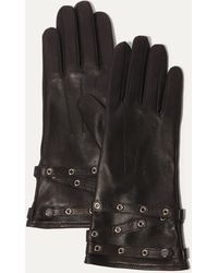 Karen Millen - Leather Eyelet Glove - Black - Lyst