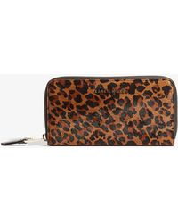 Karen Millen - Medium Leather Zip-around Wallet - Lyst