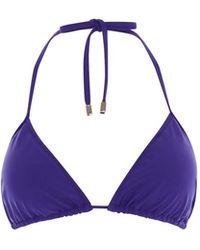 Karen Millen - Tie-neck Bikini Top - Lyst