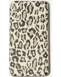 Karen Millen - Leopard Iphone Plus Folio Case - Lyst