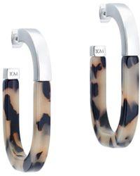 Karen Millen - Graphic Hoop Earring - Lyst