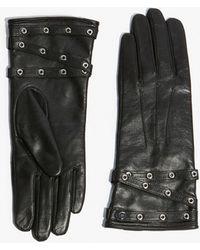 Karen Millen - Leather Eyelet Glove - Black - Lyst