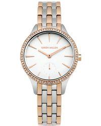 Karen Millen - Swarovski Bezel Watch - Rose Gold Colour - Lyst