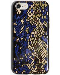 Karen Millen - Snakeskin Print Phone Case - Lyst