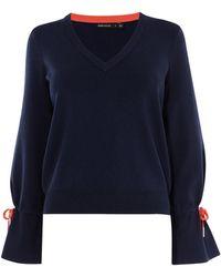 Karen Millen - Gathered Cuff Knit - Lyst