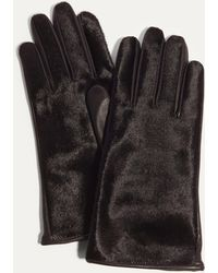 Karen Millen - Printed Leather Gloves - Black - Lyst