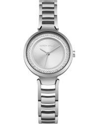 Karen Millen - Diamante Edge Watch - Lyst