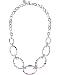 Karen Millen - Over Size Chain Necklace - Km - Lyst