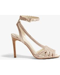 Karen Millen - Woven Heeled Sandals - Lyst