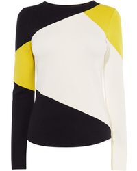 Karen Millen - Colourblock Slim-fit Top - Lyst
