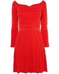 Karen Millen - Perforated Knit Dress - Lyst