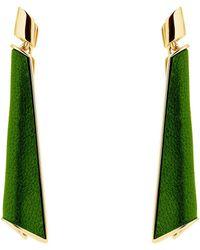 Karen Millen - Folded Pleat Drop Earrings - Lyst