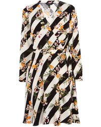 Karen Millen - Striped Floral Shirt Dress - Lyst