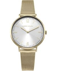Karen Millen - Contemporary Mesh Strap Watch - Gold Colour - Lyst