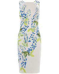 Karen Millen - Floral Strappy Midi Dress - Lyst