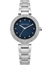 Karen Millen - Crystal Embellished Watch - Lyst