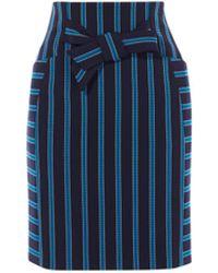 Karen Millen - Stripe Mini Skirt - Lyst