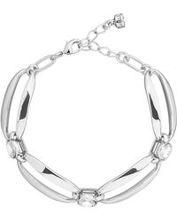 Karen Millen - Crystal Ellipse Bracelet - Lyst