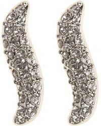 Karen Millen - Pave Wave Stud Earrings - Km - Lyst