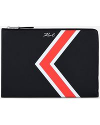 Karl Lagerfeld - K/stripes Leather Pouch - Lyst