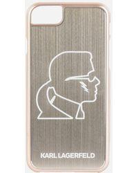 Karl Lagerfeld - Karl Head Gold Aluminum Iphone 7 Case - Lyst