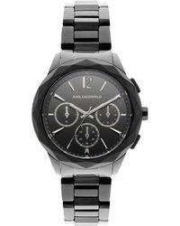 shop men s karl lagerfeld watches from 125 lyst karl lagerfeld optik black lyst