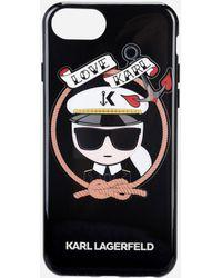 Karl Lagerfeld - Karl Sailor Black Tpu Case - Lyst