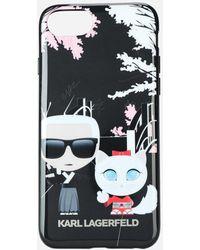Karl Lagerfeld - Karl Choupette Iphone 8 Case - Lyst