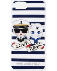 Karl Lagerfeld - Karl Sailor Stripes Tpu Case - Lyst