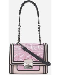 Karl Lagerfeld - K/kuilted Pink Mini Handbag - Lyst