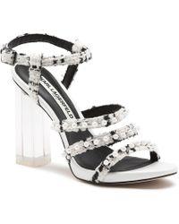 6267b6b8be60 Karl Lagerfeld - Lara Pearl Accented High Heel Sandals - Lyst