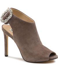 422bc266ee2 Karl Lagerfeld - Kimber High Heeled Jeweled Mules - Lyst