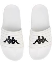 Kappa - The Logo Matese Slides In White And Black - Lyst