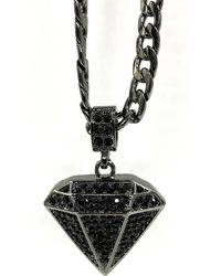Haste Goods - Iced Diamond Necklace - Lyst