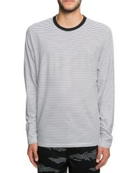 26b9c7c651 Vans - The Engineered Striped Long Sleeve In Black And White - Lyst