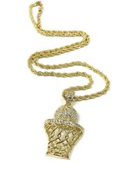 Haste Goods - Iced Out Basketball Necklace - Lyst