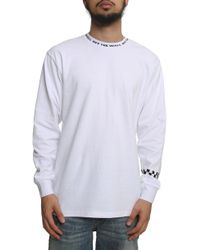 e693923c6a47 Vans - The Off The Wall Jacquard Long Sleeve Tee In White - Lyst